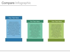 Three Tags For Data Comparison Powerpoint Slides