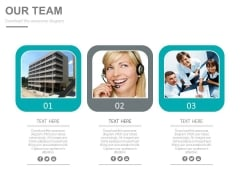 Three Tags For Team Planning And Customer Service Powerpoint Slides