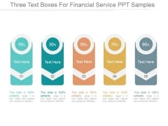 Three Text Boxes For Financial Service Ppt PowerPoint Presentation Templates