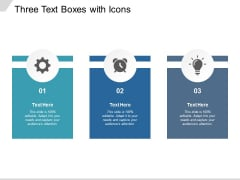 Three Text Boxes With Icons Ppt PowerPoint Presentation Professional Designs