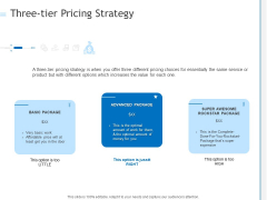 Three Tier Pricing Strategy Ppt PowerPoint Presentation Infographics Brochure PDF