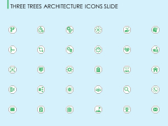 Three Trees Architecture Icons Slide Ppt Summary Graphic Tips PDF