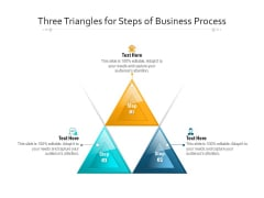Three Triangles For Steps Of Business Process Ppt PowerPoint Presentation File Professional PDF