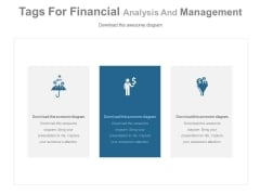 Three Types Of Financial Strategies Powerpoint Slides