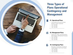 Three Types Of Plans Operational Contingency And Management Ppt PowerPoint Presentation Show Objects