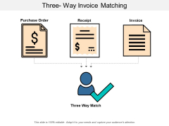 Three Way Invoice Matching Ppt Powerpoint Presentation Slides Gridlines