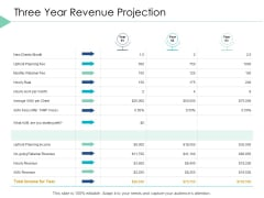 Three Year Revenue Projection Business Ppt PowerPoint Presentation Inspiration Microsoft
