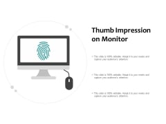Thumb Impression On Monitor Ppt PowerPoint Presentation File Background Designs