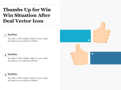 Thumbs Up For Win Win Situation After Deal Vector Icon Ppt PowerPoint Presentation Gallery Images PDF
