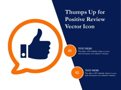 Thumps Up For Positive Review Vector Icon Ppt PowerPoint Presentation Gallery Layouts PDF