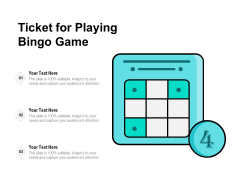 Ticket For Playing Bingo Game Ppt PowerPoint Presentation Icon Infographics PDF