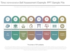 Time Administration Self Assessment Example Ppt Sample File