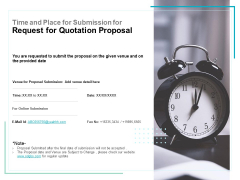 Time And Place For Submission For Request For Quotation Proposal Ppt PowerPoint Presentation File Inspiration