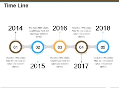 Time Line Ppt Powerpoint Presentation Slide