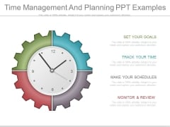 Time Management And Planning Ppt Examples