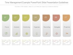 Time Management Example Powerpoint Slide Presentation Guidelines