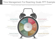 Time Management For Reaching Goals Ppt Example