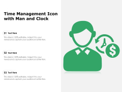 Time Management Icon With Man And Clock Ppt PowerPoint Presentation Summary Good PDF