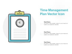 Time Management Plan Vector Icon Ppt PowerPoint Presentation Gallery Demonstration