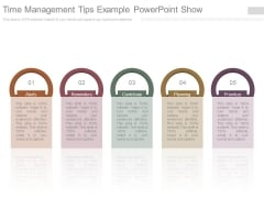 Time Management Tips Example Powerpoint Show