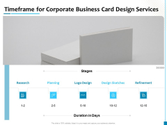 Timeframe For Corporate Business Card Design Services Sample PDF