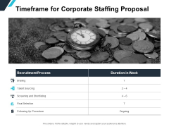 Timeframe For Corporate Staffing Proposal Ppt PowerPoint Presentation Slides Designs