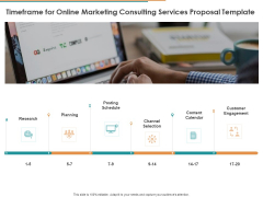 Timeframe For Online Marketing Consulting Services Proposal Template Ppt Styles Example File PDF
