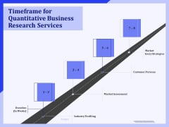 Timeframe For Quantitative Business Research Services Ppt PowerPoint Presentation Ideas Icon PDF