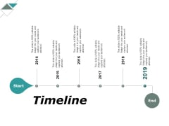 Timeline 2014 To 2019 Ppt PowerPoint Presentation Infographics Topics