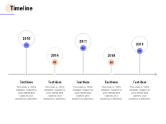 Timeline 2015 To 2019 Ppt PowerPoint Presentation Ideas Graphics