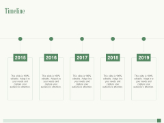 Timeline 2015 To 2019 Ppt PowerPoint Presentation Styles Objects