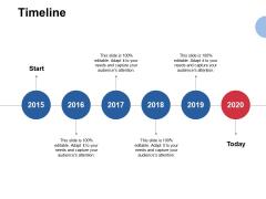 Timeline 2015 To 2020 Ppt PowerPoint Presentation File Master Slide