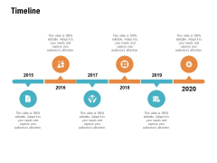 Timeline 2015 To 2020 Ppt PowerPoint Presentation Professional Slideshow