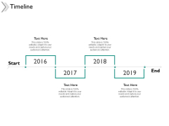 Timeline 2016 To 2019 Ppt Powerpoint Presentation Ideas Templates