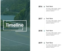 Timeline 2016 To 2019 Ppt PowerPoint Presentation Pictures
