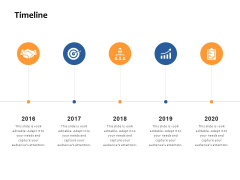Timeline 2016 To 2020 Ppt PowerPoint Presentation Inspiration Graphics