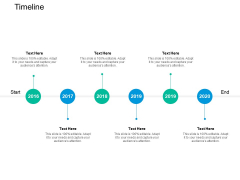 Timeline 2016 To 2020 Ppt PowerPoint Presentation Outline Deck