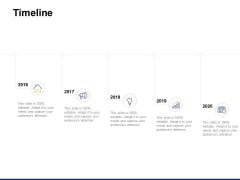 Timeline 2016 To 2020 Ppt PowerPoint Presentation Pictures Deck