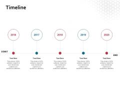 Timeline 2016 To 2020 Ppt PowerPoint Presentation Portfolio Deck