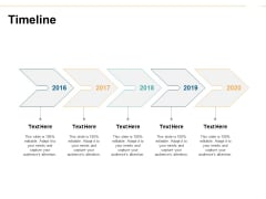 Timeline 2016 To 2020 Ppt PowerPoint Presentation Professional Icon