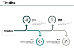 Timeline 4 Years Ppt PowerPoint Presentation Icon Portfolio