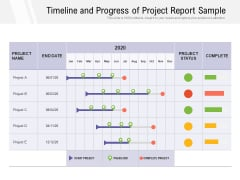 Timeline And Progress Of Project Report Sample Ppt PowerPoint Presentation Summary Graphics Template PDF