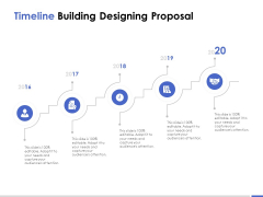 Timeline Building Designing Proposal Ppt PowerPoint Presentation Pictures Example Topics