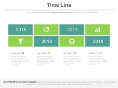 Timeline Chart With Business Growth And Success Icons Powerpoint Slides