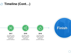 Timeline Cont Three Year Process Ppt PowerPoint Presentation Professional Background Images