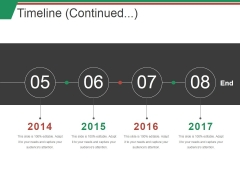 Timeline Continued Ppt PowerPoint Presentation Pictures Grid