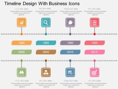 Timeline Design With Business Icons Powerpoint Template