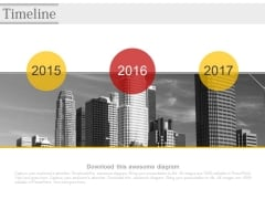 Timeline Diagram For Corporate Growth Powerpoint Slides