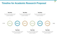 Timeline For Academic Research Proposal Ppt PowerPoint Presentation Icon Clipart Images