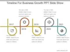 Timeline For Business Growth Ppt Slide Show